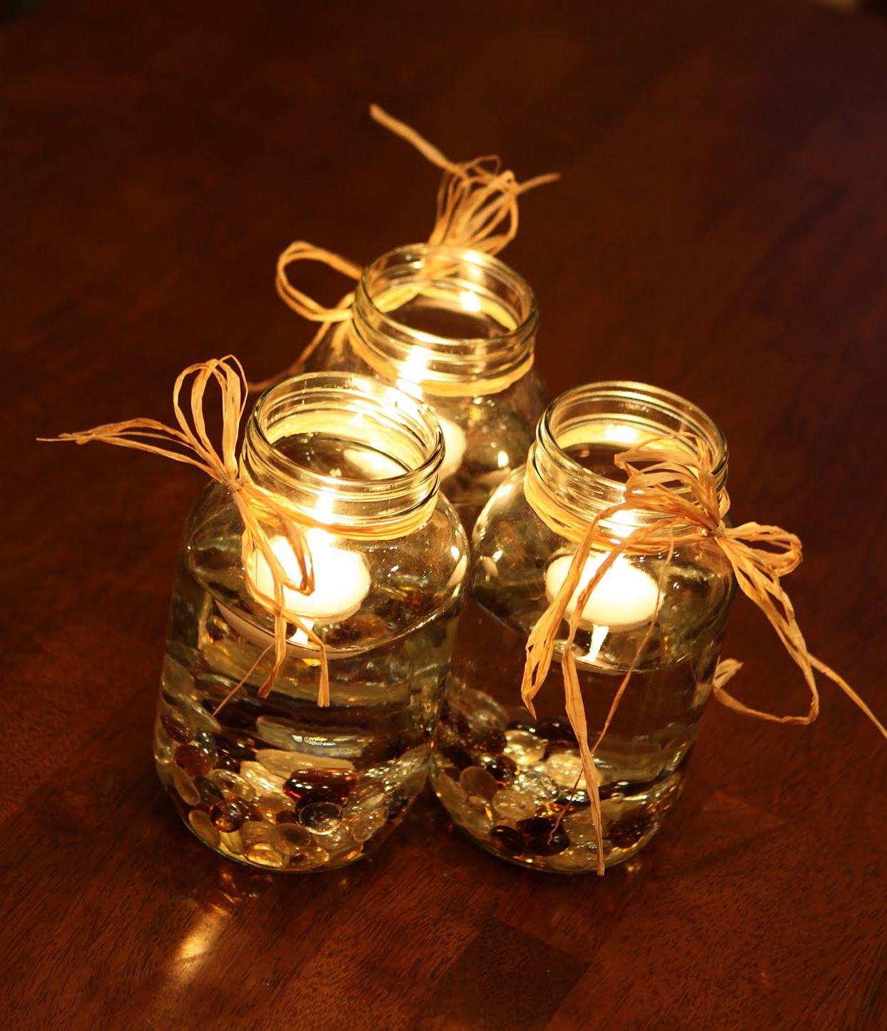Candle centerpieces romantic decoration